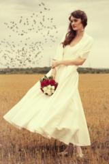 Свадебная фотосессия в Москве, портрет невесты на природе, фотограф Олег Багмуцкий
