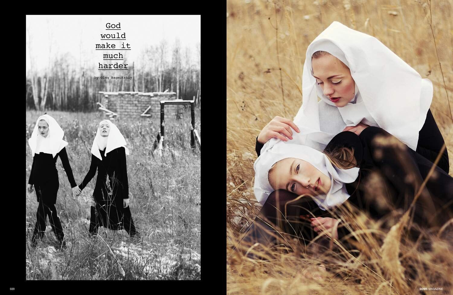 SOME Magazine Oleg Bagmutskiy Editorial Nuns Church 1