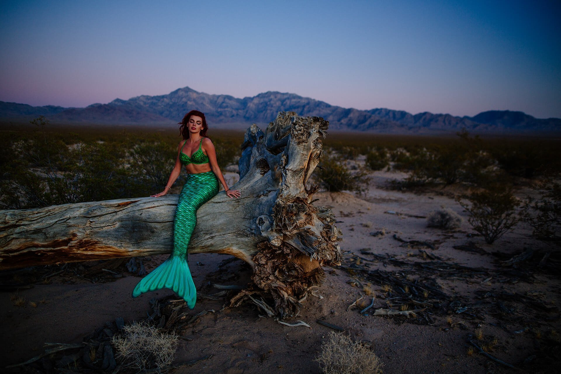 Mermaid Photoshoot LA Mojave Desert California 6