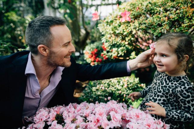 Семейная фотосессия в ботаническом саду, фотограф Олег Багмуцкий